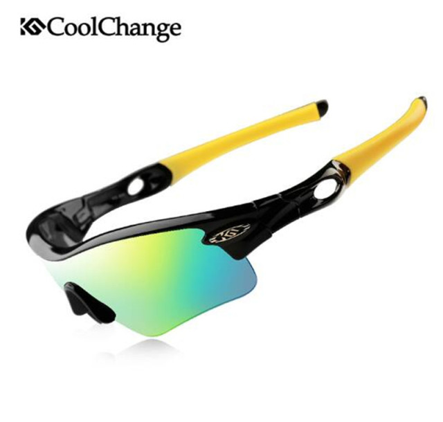 d6f88ac9fa CoolChange Polarized Cycling Glasses Men Women Cycling Sunglasses Bike  Eyewear Bicycle Glasses Cycling Glasses 5 Lens
