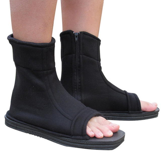 Anime Naruto Cosplay Shoes Ninja Boots Kakashi Shoe Halloween Accessories Shoes  Costumes Black Blue
