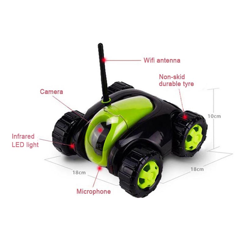 Wi-Fi App Controlled Robot Remote Control Tank with FPV HD Camera RC  Vehicle VR Wireless Automatically Recharge