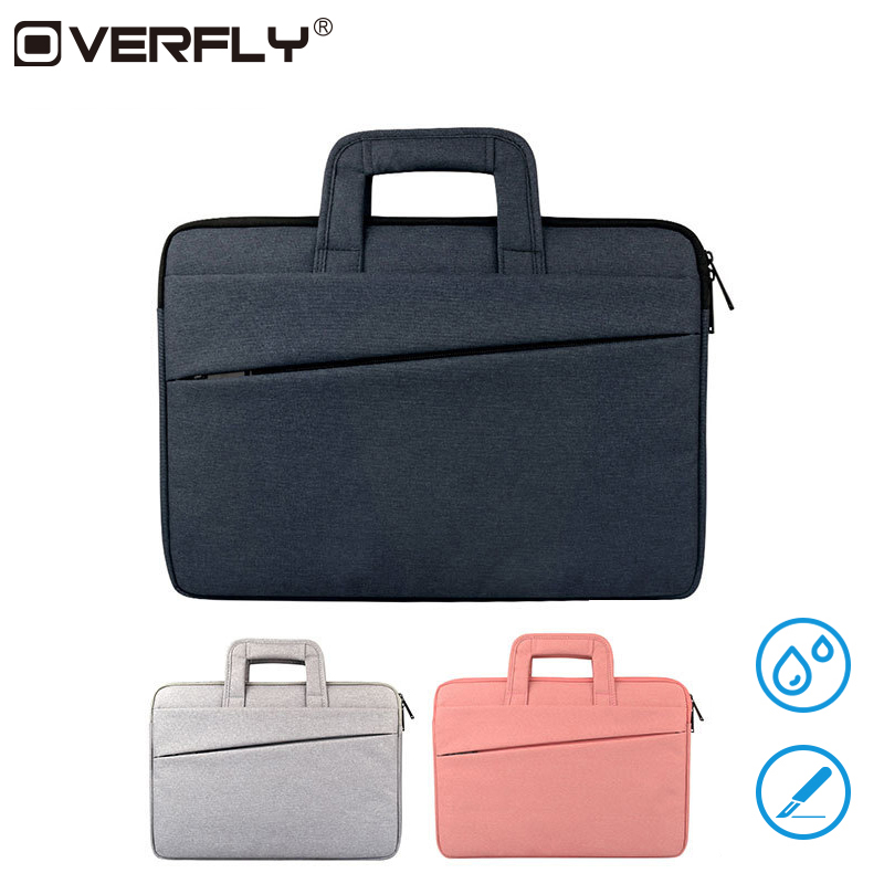 Overfly Men Women Portable Laptop Bags Air Pro 12 13.3 15.6 Inch Handbag Bag Sleeve For Xiaomi Air Case Pro HP Dell Cover