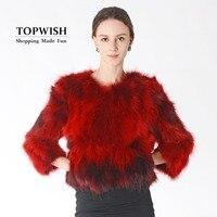 New Arrival Real Fox Fur Coat Women Fashion Top Factory Discount Nature Raccoon Fur Jacket Luxury Fur Waistcoat TNT523