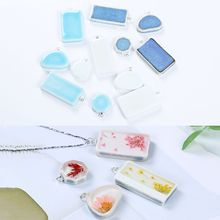 Ceramic Pendant Tray DIY Epoxy Resin Crafts Jewelry Making Necklace Pendant Geometric Shape Vintage Earrings 4 Styles