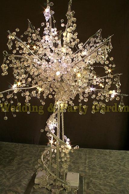 Wedding Crystal beads tree Christmas shiny trees Wedding Centerpiece ...
