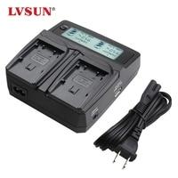 Lvsun camera batterij lp-e5 lpe5 lp e5 dual auto/ac charger met display voor canon eos 450d 500d 1000d kissx2 kissx3 kiss x2 X3