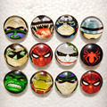 10pcs 18mm snap button jewelry spiderman snaps fit ginger snaps buttons