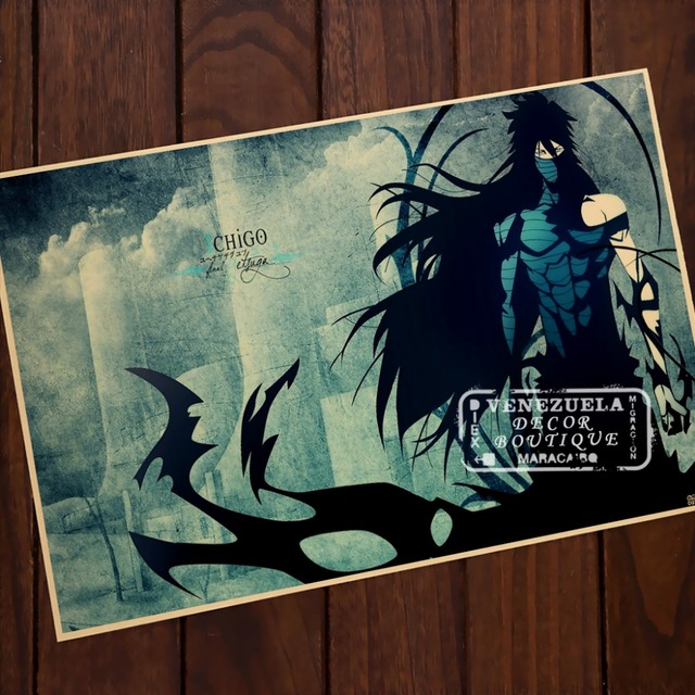 Bleach Ichigo Propaganda Do Vintage Kraft Poster Decorativa DIY Adesivo  Parede Delicado Presente Home Bar Decor