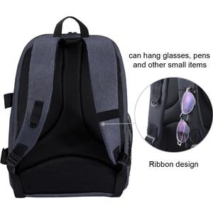 Image 5 - กระเป๋าเป้สะพายหลังกันน้ำ DSLR พร้อมช่องเสียบหูฟังแจ็คหูฟังวิดีโอดิจิตอลกล้อง DSLR กระเป๋ากล้องสำหรับ Nikon Canon เลนส์