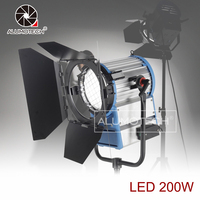 Alumotech 200W Day Light 5600K Fresnel LED Dimming HMI Light For Studio Photogarphy Filmmarking Broadcasting Continous Lighting