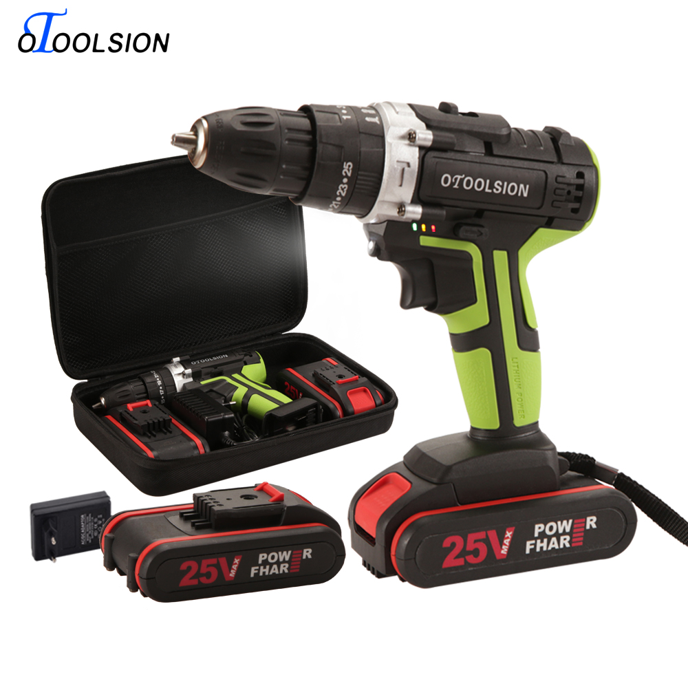 25+3 Torque Impact Power Tools 25V Impact Screwdriver Screwdrivers With Batteries Cordless Screwdriver Hammer Drill For DIY Home