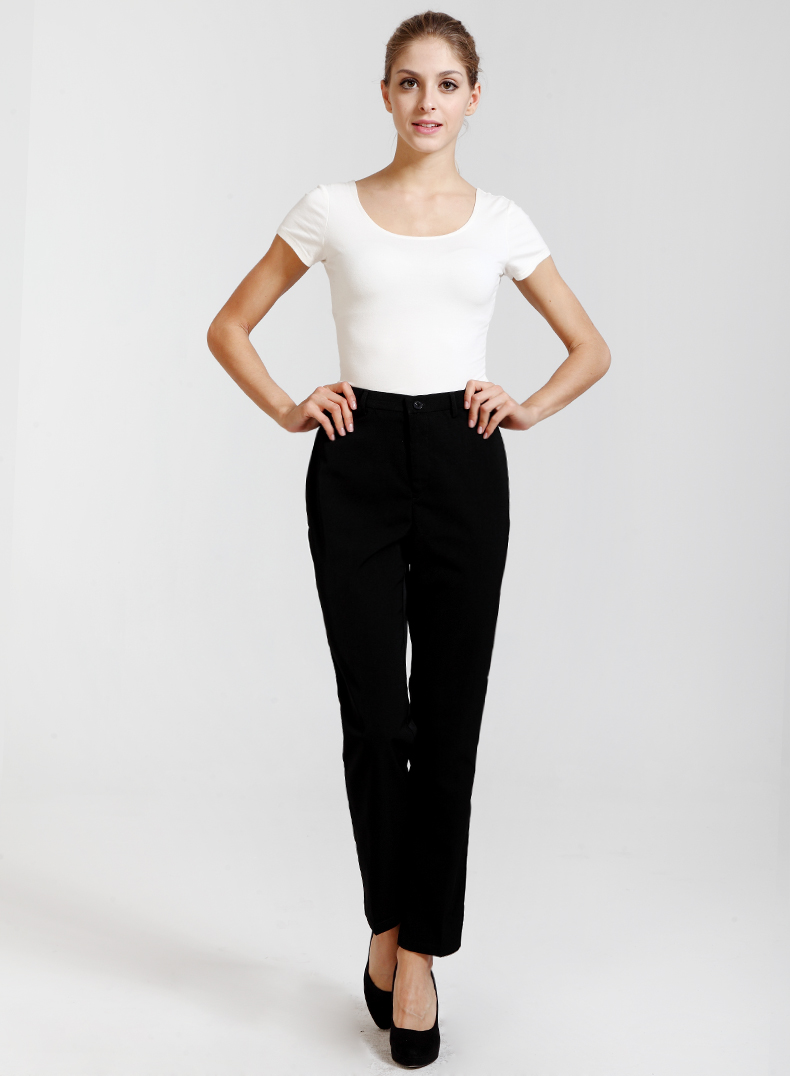 New ladies black waiters work wear uniforms female best chef pants hotel restaurant kitchen trousers wholesale free shipping image