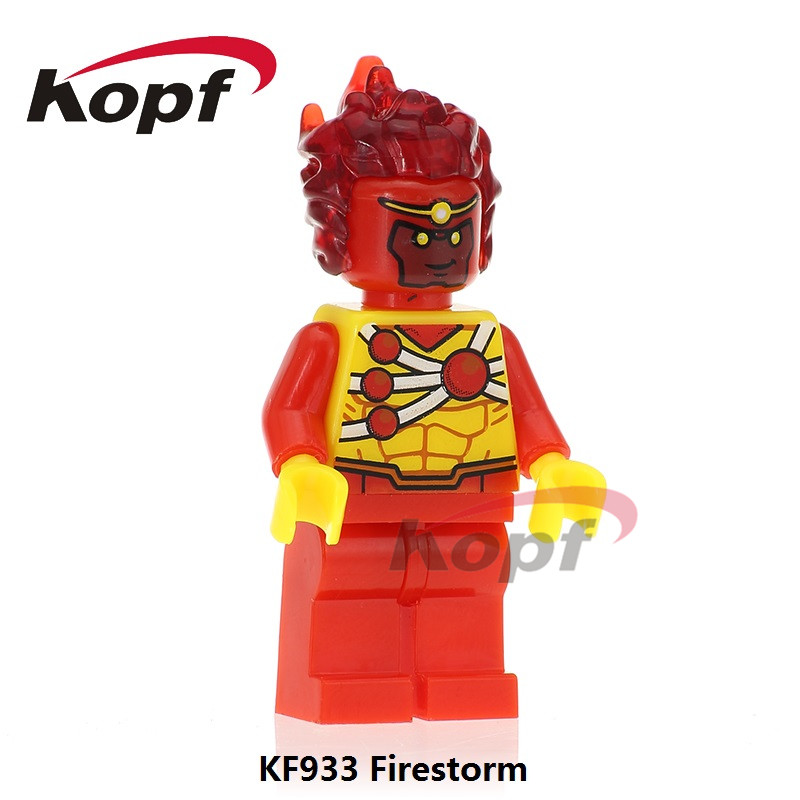 Single Sale Pop Culture Customs Printed Super Heroes Firestorm Dolls Brand New Bricks Building Blocks Children Gift Toys KF933 tle4729g automotive computer board