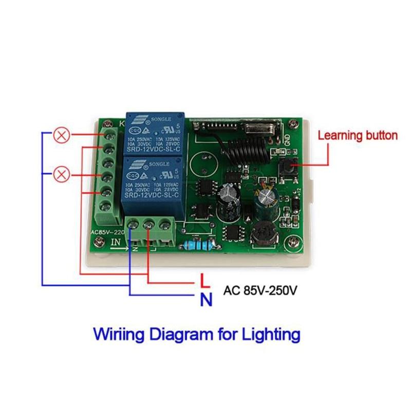 Learning Gate Opener Télécommande sans fil transmetteur porte de Garage 433.92 MHz