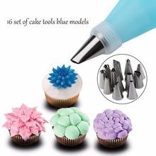 kitchen Baking Tools 16PCS/1Set Cake Decorating DIY Icing Piping Nozzles Tips 1PCS Silicone Pastry Bag Squeeze Sets