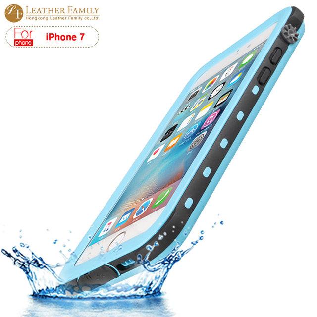 Para iphone 7 caso vida à prova de água ip68 à prova d' água saco de silicone caso capa de proteção para iphone7 4.7 polegada com impressão digital