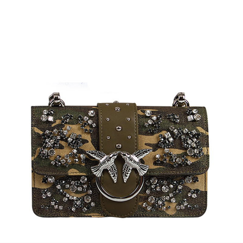 2019 New Swallow Bags Inlaid Diamond Rivet Bacchus Shoulder Bags Chain Messenger Handbag Luxury Brand Famous Designer Sac A Main2019 New Swallow Bags Inlaid Diamond Rivet Bacchus Shoulder Bags Chain Messenger Handbag Luxury Brand Famous Designer Sac A Main