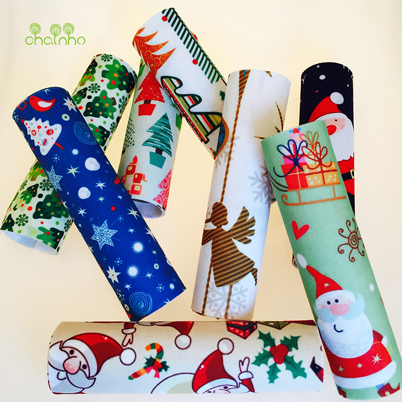 8 stk. Trykt NonWoven Christmas Felt Fabric / Polyester Mykt Filt av Home Decoration / For Sy Dolls Crafts 19x28cm