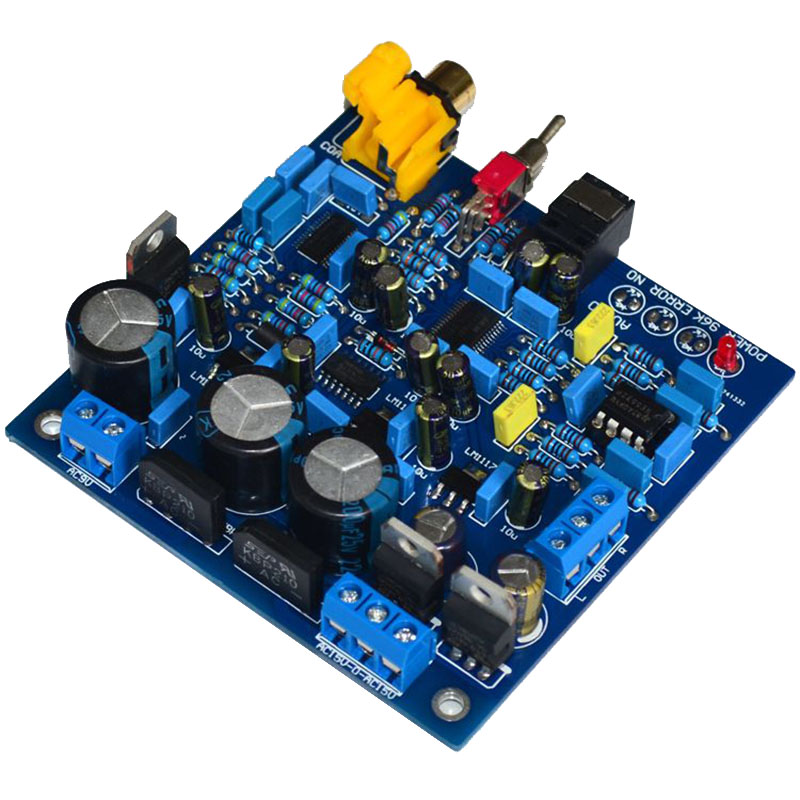 AK4396+CS8416 HiFi <font><b>DAC</b></font> decoding fiber coaxial input 24BIT/192KHZ decoding <font><b>DAC</b></font> enthusiast class power amplifier <font><b>board</b></font> image