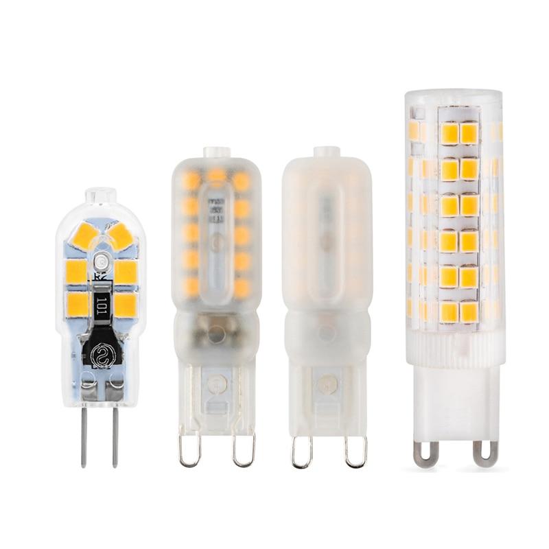 1PCS/Lot 3W 5W 7W 9W 12W Bombillas AC220V SMD2835 Halogen Light 360 Beam Angle G4 Led 12v Christmas Light G4 Lampada G9 Led Bulb