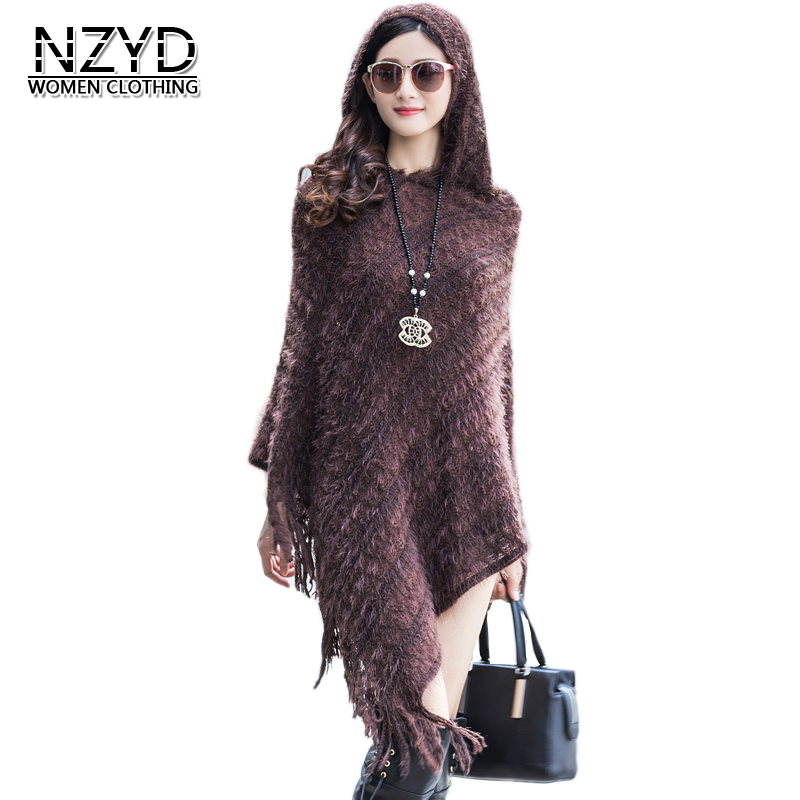 Hooded Blue Cloak Women Style winered purple Loose Spring Female black Tees 2018 Shawl Fashion long Autumn New Mid Bat Tops Sleeve Sweater Nzyd601 Coffee navy WSzXwAOq