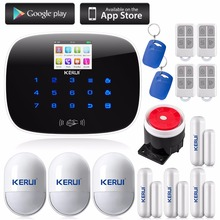 KERUI LCD PIR Sensor GSM Autodial House Office Burglar Intruder Alarm System Support 2G/4G signal Android and IOS APP Control
