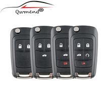 цена на 2/3/4/5 Buttons HU100 Blade Flip Key Shell for Chevrolet Camaro Cruze 2010-2013 Remote Key Case Fob Replacement