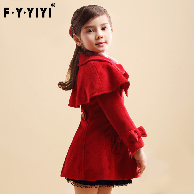 все цены на Girl coat woolen overcoat Spring and autumn coat Removable Cloak Thickened warm 2017 new clothes Double-breasted