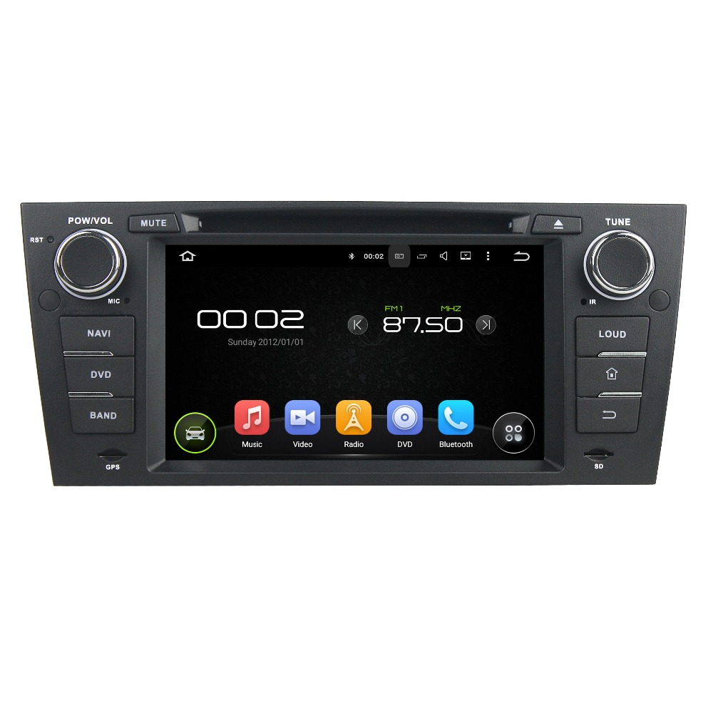 New Type 7 Inch 1Din Android 5.1 Quad Core HD1024*600 Car DVD Player For  BMW For E90 E91 E92 E93 2005-2012 Multimedia Free MAP