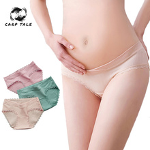 Maternity Pants Women Low-waist Panties Cotton Soft Care Abdomen Underwear Clothes Antibacterial and breathable