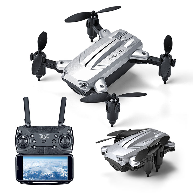 Hot sale Mini Drone With HD Camera Folding Quadcopter Selfie <font><b>dron</b></font> <font><b>Fpv</b></font> Altitude Hold Remote Control RC Helicopter For toy gift image