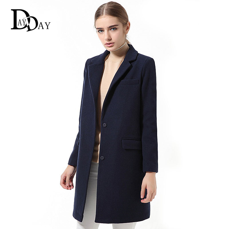 Aliexpress.com : Buy 2015 Women's Designer Wool Coats Ladies Solid ...