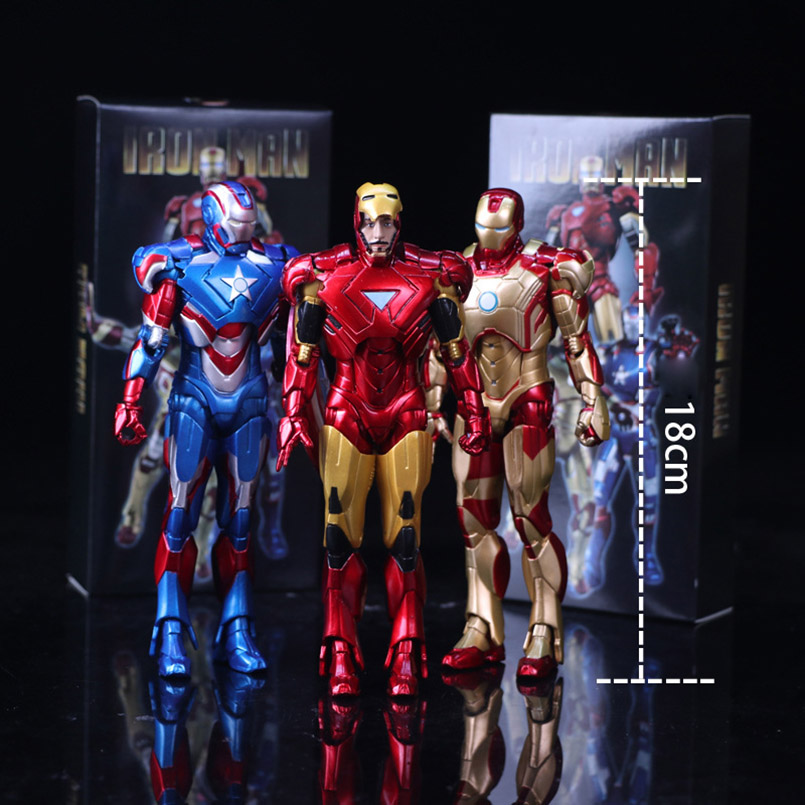 Apaffa 1 pcs The Avengers Figma Iron Man The Patriot PVC Model Action Figure Collective Model Toys For 12-15 Years Children the iron throne model in game of thrones figure collective toys