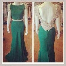 2016 Hot Elegante Vestido De Festa Mermaid Lange Real Sample Abendkleid Flügelärmeln Prom Kleider