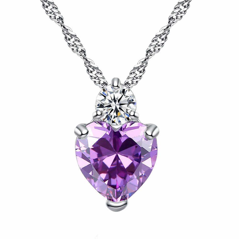 Anhänger Halskette Frauen Stilvolle Klassische Luxus Herz Kette Halsketten Damen Halskette Schmuck Anhänger Collares De Moda 2019 L0605