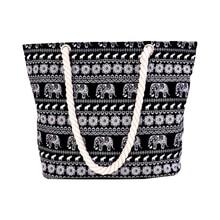 Texu/Для женщин брезентовый мешок Повседневное большая емкость сумки на плечо Таиланд национальном стиле с изображением слона
