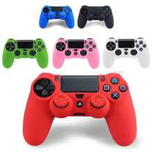 2 in 1 Rubber Silicone Gel Joystick Thumb Sticker Analog Grips Caps for Dualshock 4 PS4