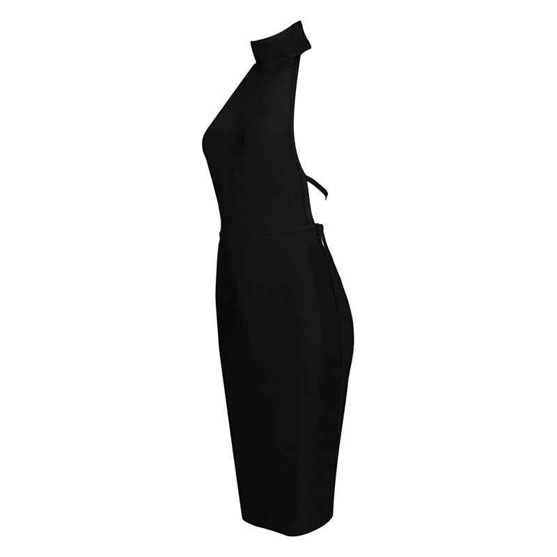 Летнее Черное женское платье с открытой спиной, с открытой спиной, облегающее, из вискозы, Бандажное, Vestidos, сексуальные вечерние, с открытой спиной, для ночного клуба