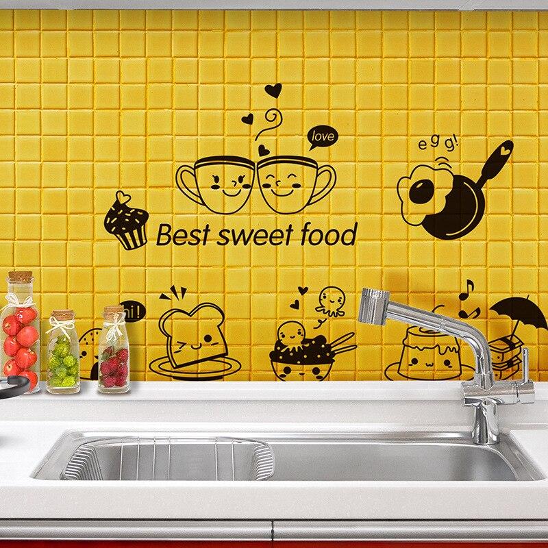 Cute Cartoon Best Sweet Food Wall Art Mural Decor Kitchen Tile ...