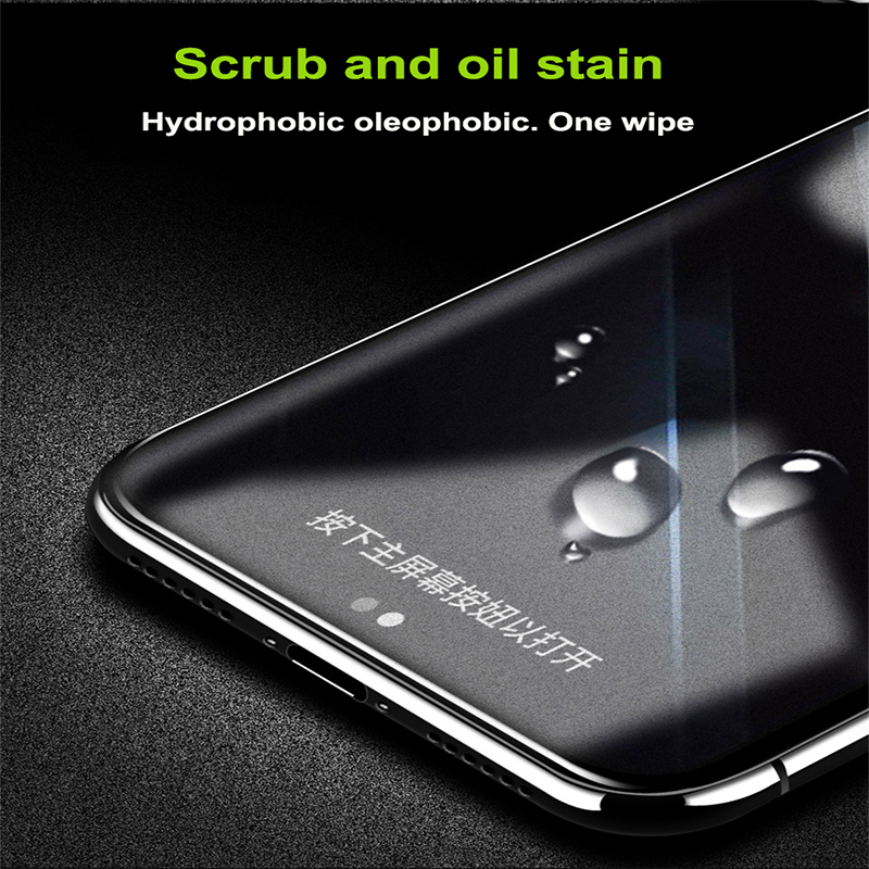 Frosted Matte Screen Protector Tempered Glass For iPhone 7 8 Plus X XS MAX 2