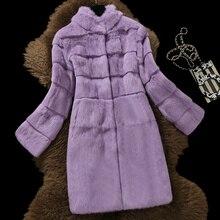 X-long, 90 см, натуральный мех кролика, пальто для женщин, стоячий воротник, волнистый вырез, натуральный мех, пальто, верхняя одежда, осень-зима, размера плюс S-6XL