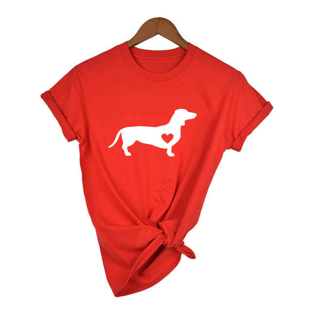 Teckel amour chien T-Shirt Doxie chemise Wiener chien chemise Streetwear Tumblr t-shirts femmes casual graphique T-Shirt Harajuku hauts