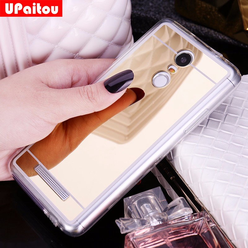 UPaitou Mirror TPU Case For Xiaomi Redmi 4A 3S Y1 S5 Note 5A 4 4X 3 Pro Prime Mi 8 SE Max 2 2S 5X A1 Mix 6 6X 5 5C 5S Plus Cover
