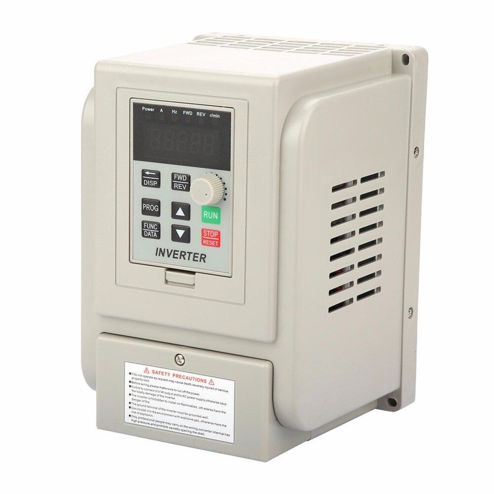 Convertisseurs de fréquence d'entraînement de moteur à vitesse Variable monophasé de l'inverseur 12A 220 V 2.2KW pour le moteur à courant alternatif de 3 phases
