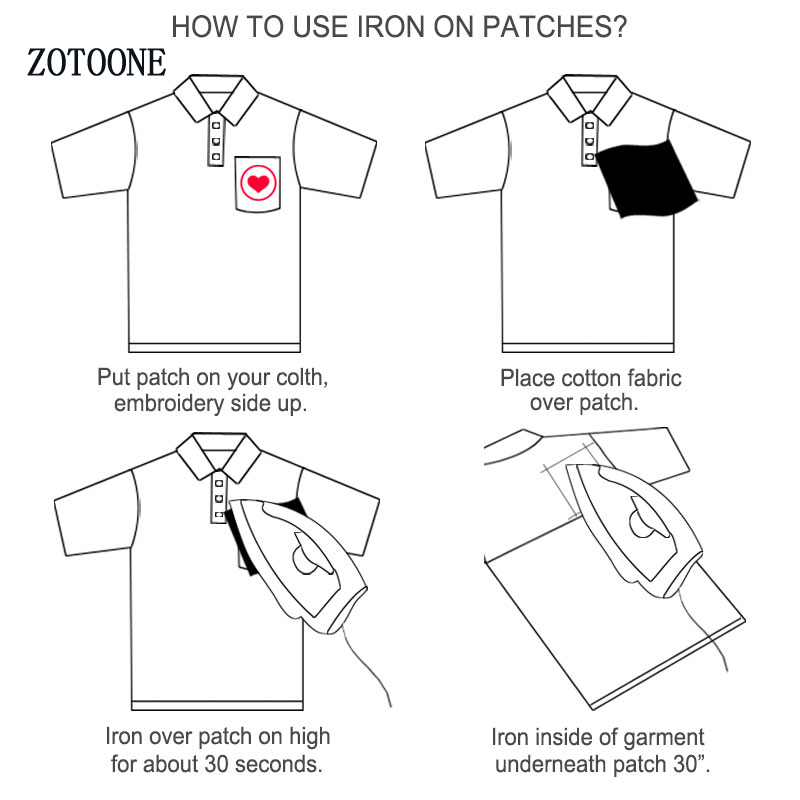 ZOTOONE Punk Patches on Clothing Embroidered Patch on Clothes Garment Stickers Appliques for Badge Creative T shirt Applications in Patches from Home Garden