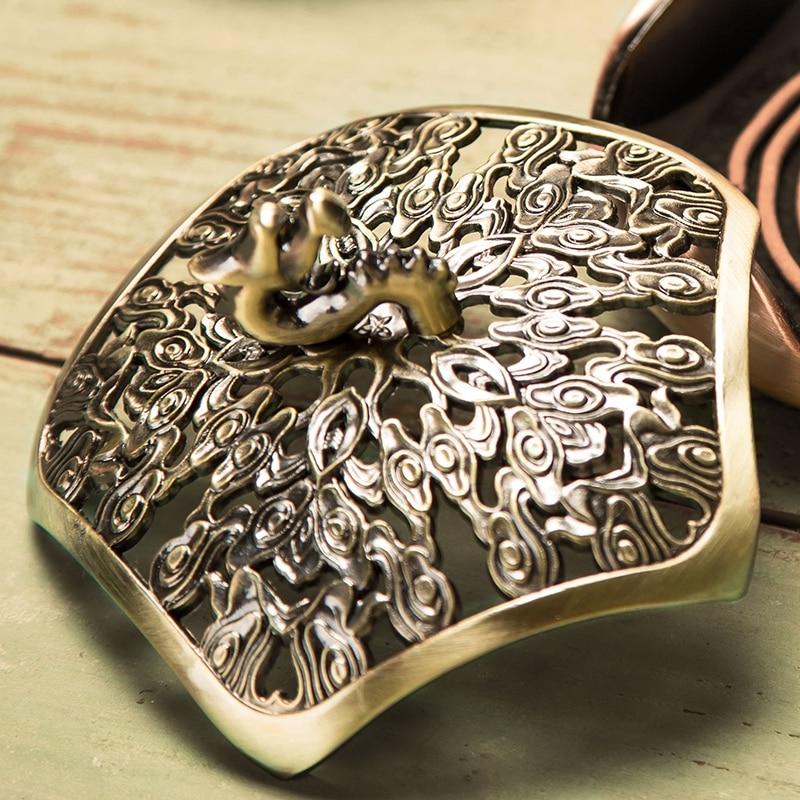 PINNY Novi dizajn Metalni zmaj plamenici zavjese Sandalovo drvo - Kućni dekor - Foto 4