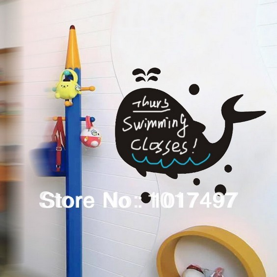 Free shipping Vinyl Cute Bear Elephant Tree Blackboard Wall Stickers Removable Vinyl Chalkboard Decal Stickers Kids Room Decor