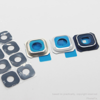 10pcs/lot Camera Glass Lens Cover with glass adhesive for Samsung Galaxy S6 Edge Plus G928 Replacement Part