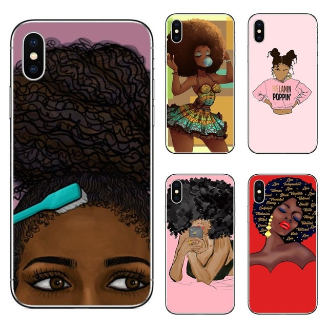 fashion africa black girl hard pc phone case for iphone 7 xr xs maxfashion africa black girl hard pc phone case for iphone 7 xr xs max 6 6s plus 5 5s se 8 8plus melanin queen cover for iphone x
