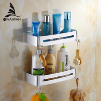 Bathroom Shelves Metal Shower Corner Shelf Cosmetic Rack Soap Shampoo Storage Hooks Modern Bathroom Fitting Bath Holder 9246