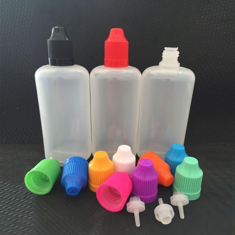1200pcs pert lot 100ml Plastic Eye Dropper Bottle 100 ml E Liquid Bottle With Childproof cap Needle Dropper Empty Bottle