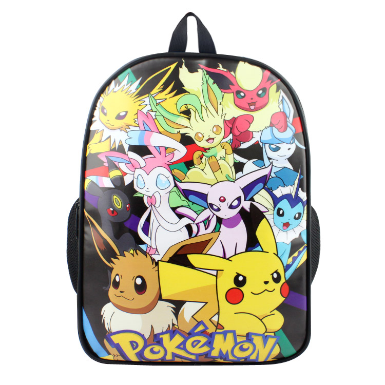 Anime Pocket Monster Eeveelution Backpack For Boy Girls Bags Pokemon Go Pokemon Eevee Umbreon Cartoon School Bag Student Bookbag climate 2017 pocket monster go game pikachu flat snapback caps adult men women animation cartoon cute comic orange eevee hat cap